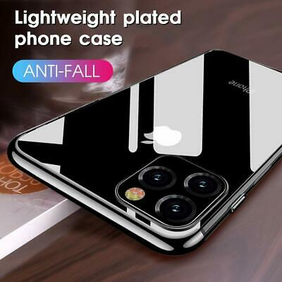 For iPhone 11 Pro Max 11 Pro Ultra Slim Soft Plating Silicone Clear Case Cover