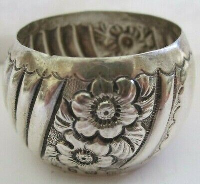 Antique Repousse Sterling Silver Napkin Ring Lot # 13 Of Collection ! See All