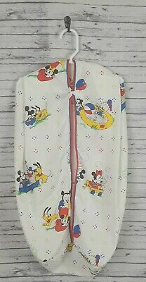 Vtg 80's Walt Disney Co Baby Minnie Mickey Mouse Fabric Diaper Stacker