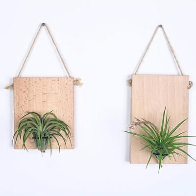 Hanging Wall Shelf Decorative Wood Swing Shelves Wood Plant Holder Flower W