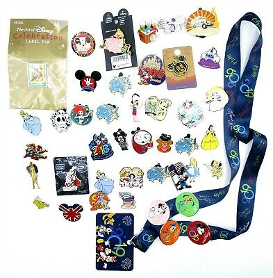 Disney Pin Lot of 35 Piece with Lanyard Includes Mickey Jack o Lantern HS760