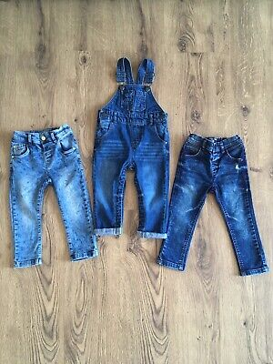Next baby boy dungarees and skinny jeans 12-18 months