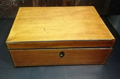 Antique Victorian Canadian Maple Card Box or Cigar box C.1850