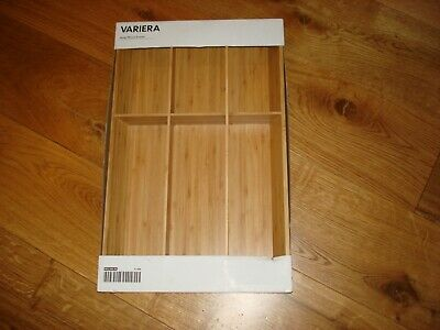 Lovely New Boxed Ikea Variera Bomboo Wooden Large Cutlery Tray