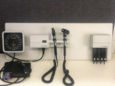 Welch Allyn 767 Otoscope Opthalmoscope Blood Pressure Integrated Wall Mount Set