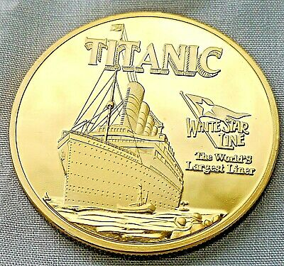 Titanic Gold Stair Case Coin First Class Section Foot Steps Grand Wood Ship USA