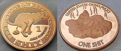 Dog Poo Coin Joke Humour Ideal Gift for the person who has Everything Perfect
