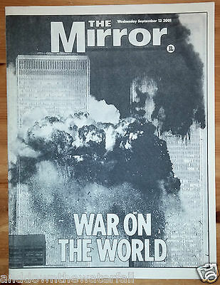 9/11 Newspaper New York City Daily Mirror Terrorism Man  Bin Laden Bush U S A UK