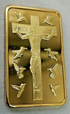 Jesus 10 Commandments Gold Bar Religion God Holy Bible Moses Virgin Mary Pope UK