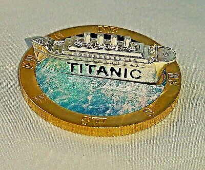 Titanic 3D Silver Ship on Gold Coin Sank 1912 Atlantic Ocean Photo Movie Toy USA