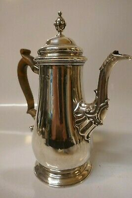 Dated 1751 Georgian Sterling Silver Teapot by Fuller White of London