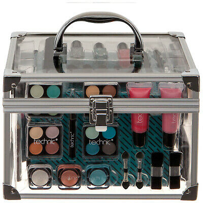 NEW Technic Gift Sets Essential Cosmetics Large Clear Carry Case