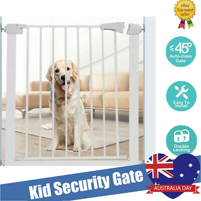 Adjustable Baby Pet Child Kid Safety Security Gate Stair Barrier Door 73x78x4cm