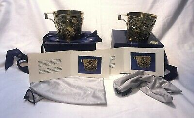 Ilias Lalaounis Pair Of Gilded Sterling Silver Cups - Antiquities  Inspired -B/O