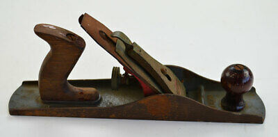 """Craftsman 14"""" Smooth Bottom Wood Plane Wood Handles Made in USA     (T&L)"""