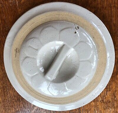 VTG Red Wing 1 gallon stoneware crock daisy flat bar handle lid Number 1 on lid