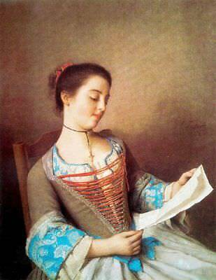 """perfect oil painting handpainted on canvas""""a woman reading a letter"""" N12594"""