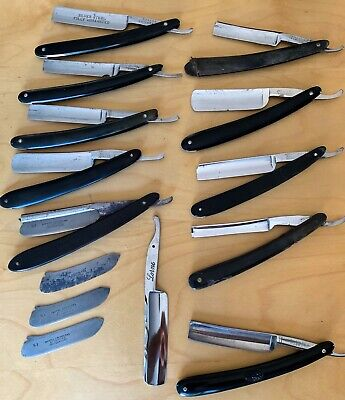 Huge Estate find Straight Razor Lot Wade Butcher Germany Solingen Antique