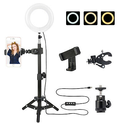 ZOMEi 6-inch LED Ring Light Dimmable Desktop USB On-Camera for YouTube Selfie