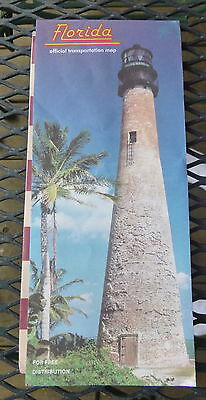 1985 Florida  road  map Official state highway
