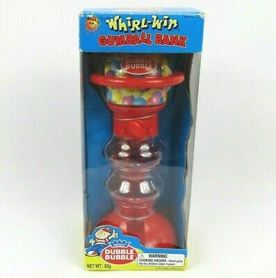 Dubble Bubble Gumball Bank Dispenser Machine Whirl-Win