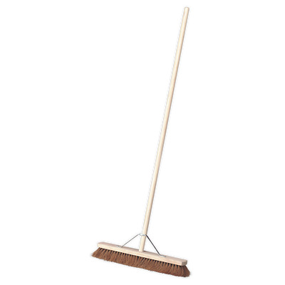 "BM24S Sealey Broom 24""(600mm) Soft Bristle [Janitorial]"