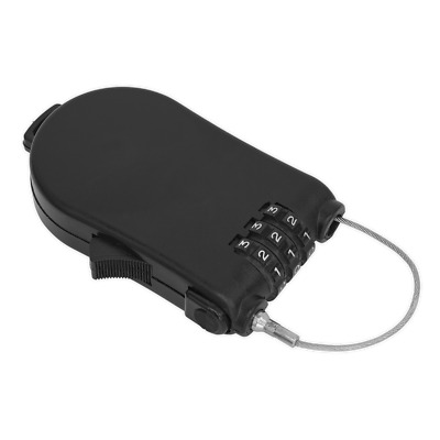 CCL01 Sealey Combination Cable Lock [Security Locks & Chains]
