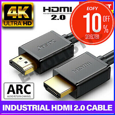 Premium HDMI Cable 4K Ultra HD Certified V2.0 1.4 3D High Speed Gold Plated ARC