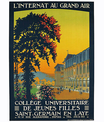 COLLÉGE UNIVERSITAIRE SAINT-GERMAIN EN LAYE, Orig. Travel Poster, Constant Duval