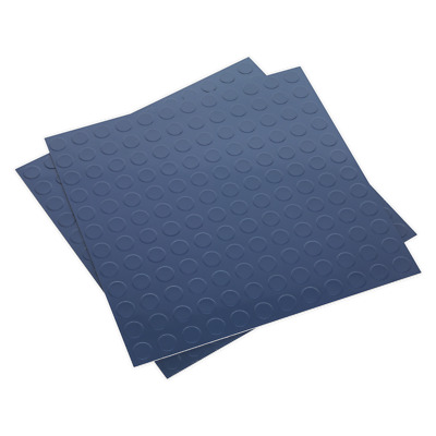 FT2B Sealey Vinyl Floor Tile with Peel & Stick Backing - Blue Coin Pack of 16