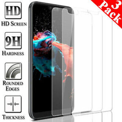 [3-Pack] for iPhone 11 Pro X XR XS Max 7 8 Plus Tempered Glass Screen Protector