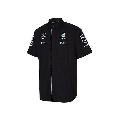 SHIRT Mercedes AMG Petronas F1 Team Formula One 1 Raceshirt NEW! Black