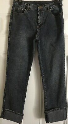 DG2 Womens Blue Jeans Pants Stretch Cuffed Ankle Crop Size 6