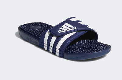 ADIDAS Adissage Men Dark Blue/White Sandal Slippers F35579