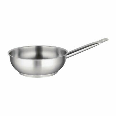 Vogue Heavy Duty Stainless Steel Flared Saute Pans Catering Commercial Cookware