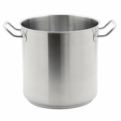 Vogue Heavy Duty Stainless Steel Deep Stockpot Catering Commercial Cookware