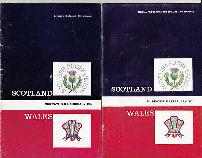SEVEN International Rugby Union Programmes from 1965 1966 1967 1975 1984 & 2002