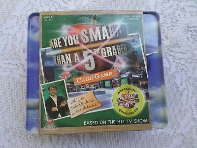 Are You Smarter than a 5th grader card game with CD new carry case TV Show