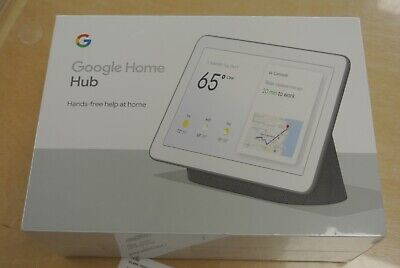 Google Home Hub - Charcoal Smart Assistant Brand New Sealed GA00515-US