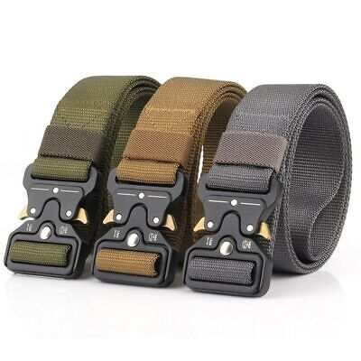 Safety Belts Rollercoaster Metal Button Canvas For Fashion Sport Women Men NEW