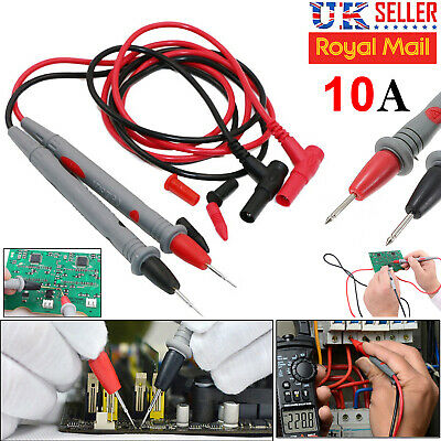 High Quality 10A Safe Digital Multimeter Test Leads Probes Volt Meter Cable UK