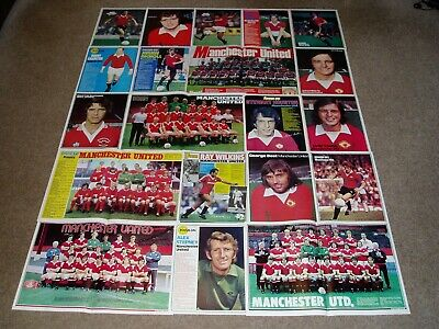 MANCHESTER UNITED FC  -  Shoot magazine Team Group & Player Posters [Set 1]