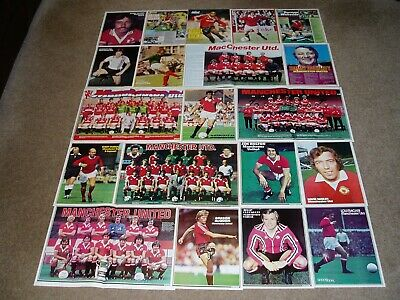MANCHESTER UNITED FC  -  Shoot magazine Team Group & Player Posters [Set 2]