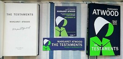 Margaret Atwood Signed The Testaments 1/1 Uk Hb/Dj 2019 Brand New With Tote Bag
