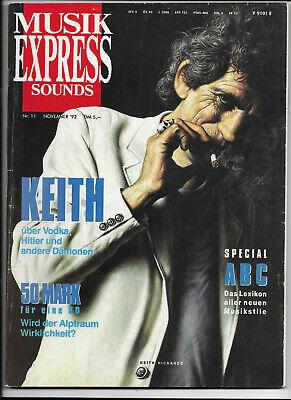 musikexpress Sounds Nr.11 von 1992 Keith Richard, Zucchero, Brian May... - TOP