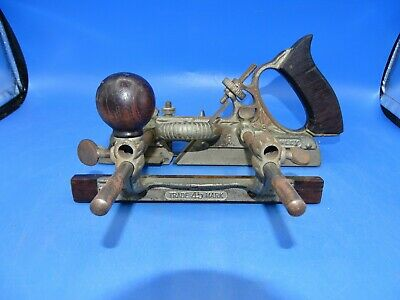 Antique Stanley No.45 B Type 8 Combination Plow Wood Plane 1907 To 1908 Look !