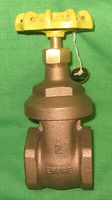 """NEW Empire 2"""" Brass Gate Valve FxF Threaded 200 WOG 125S    *FREE PRIORITY SHIP*"""