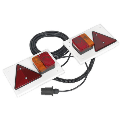 TB0212 Sealey Lighting Board Set 2pc with 10mtr Cable 12V Plug [Trailer Boards]