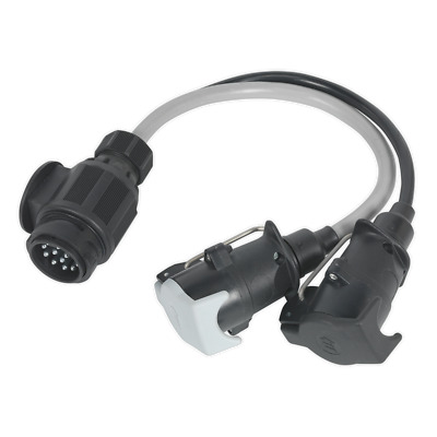 TB55 Sealey Conversion Lead 13-Pin Euro to 7-Pin N & S Type Plugs 12V