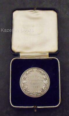 Vintage Chester Hallmarked Solid Silver Yeovil School Prize Medal & Box 1933